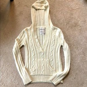 Aeropostale Hoodie Pullover Cable Knit Sweater
